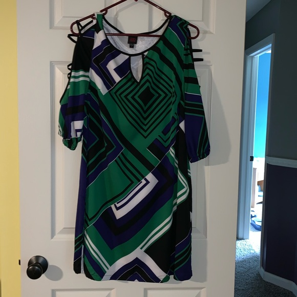 bebe Dresses & Skirts - Multi-color Bebe Dress - Size L